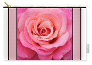Rainy Day Rose Square Carry-all Pouch