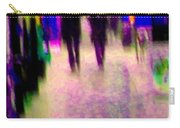 Rainy Night In The City Downtown Evening Stroll Through The Puddles Montreal Art Carole Spandau Carry-all Pouch