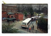 Raleigh Bus Terminal - Evening Carry-all Pouch by Paulette B Wright