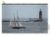Ram Island Ledge Light And Schooner Carry-all Pouch