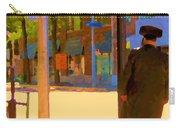 Ramacieri Soligo Building Supplies Rue Van Horne Outremont Montreal Street Scene Art Carole Spandau Carry-all Pouch