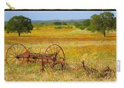 Ranch And Wildflowers And Old Implement 2am-110547 Carry-all Pouch