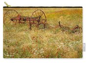 Ranch And Wildflowers And Old Implement 2am-110546 Carry-all Pouch
