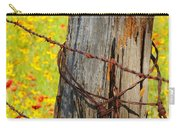 Ranch Wildflowers And Fence 2am-110532 Carry-all Pouch