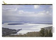 Rangeley Maine Winter Landscape Carry-all Pouch by Keith Webber Jr
