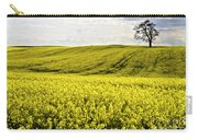Rape Landscape With Lonely Tree Carry-all Pouch by Heiko Koehrer-Wagner
