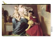 Raphael Adjusting His Model's Pose For His Painting Of The Virgin And Child  Carry-all Pouch