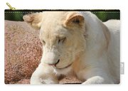 Rare Female White Lion Carry-all Pouch
