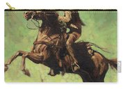 Roping Raring Horse Carry-all Pouch by Don  Langeneckert