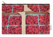 Raspberry Pints In Cardboard Flats Carry-all Pouch