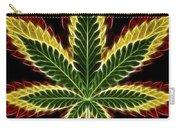 Rasta Marijuana Carry-all Pouch by Adam Romanowicz