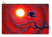 Raven In Ruby Red Carry-all Pouch