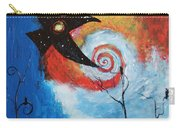 Raven In The Swirl Carry-all Pouch