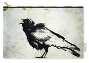 Raven On Blue Carry-all Pouch