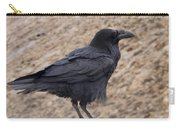 Raven Perched On A Ledge Carry-all Pouch
