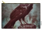 Raven Perched On A Post Carry-all Pouch