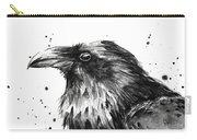 Raven Watercolor Portrait Carry-all Pouch