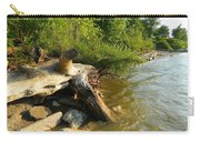 Raw Lake Erie Shore Carry-all Pouch