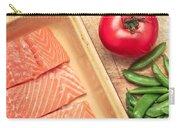 Raw Salmon Carry-all Pouch by Tom Gowanlock