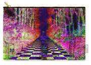 Rawa River Abstract Art Carry-all Pouch by Mary Clanahan