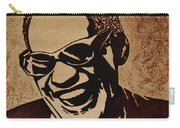 Ray Charles Original Coffee Painting Carry-all Pouch