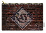 Rays Baseball Graffiti On Brick  Carry-all Pouch by Movie Poster Prints
