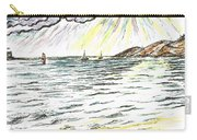Rays Of Sunshine Between Clouds Carry-all Pouch