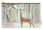 Reach For It Happy Holidays Carry-all Pouch by Karol Livote