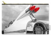 Reach For The Skies - 1959 Cadillac Tail Fins Black And White Carry-all Pouch