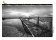 Reaching Into Sunset In Black And White Carry-all Pouch