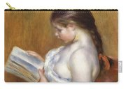 Reading Carry-all Pouch by Pierre Auguste Renoir