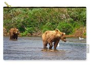 Ready To Pounce On A Salmon  In The Moraine River In Katmai National Preserve-ak Carry-all Pouch