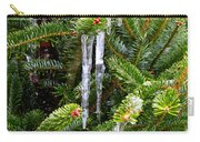 Real Christmas Icicles Carry-all Pouch