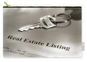 Real Estate Listing And Hosue Keys Carry-all Pouch