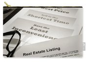 Real Estate Listing Presentation  Carry-all Pouch