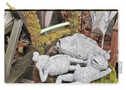 Reclining Amphibians And A Bird Carry-all Pouch