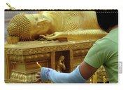 Reclining Buddha Prayer Candles Carry-all Pouch