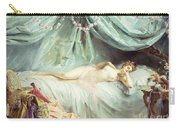 Reclining Nude In An Elegant Interior Carry-all Pouch by Madeleine Lemaire