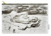 Reclining Nude Study Resting At The Beach Carry-all Pouch