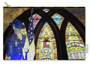 Recollection Union Soldier Stained Glass Window Digital Art Carry-all Pouch