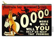 Recruiting Poster - Ww1 - Australian Promise Carry-all Pouch
