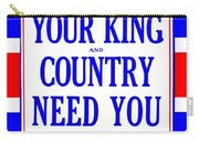 Recruiting Poster - Britain - King And Country Carry-all Pouch