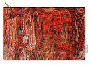 Red Abstract Panel Carry-all Pouch by Carol Groenen