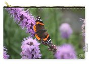 Red Admiral Butterfly On A Blazing Star Carry-all Pouch