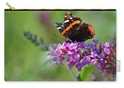 Red Admiral Butterfly On Butterfly Bush Carry-all Pouch
