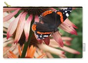 Red Admiral On Coneflower Carry-all Pouch