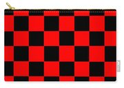 Red And Black Checkered Flag Carry-all Pouch
