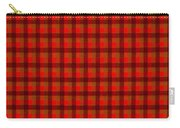 Red And Black Checkered Tablecloth Cloth Background Carry-all Pouch