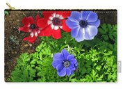 Red And Blue Anemones Carry-all Pouch