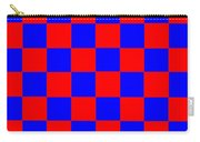 Red And Blue Checkered Flag Carry-all Pouch